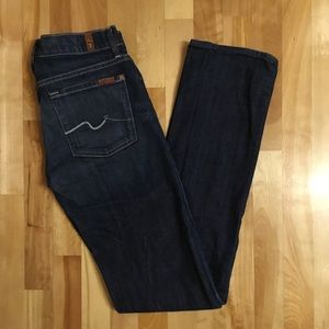 7 FOR ALL MANKIND Straight leg jeans dark wash